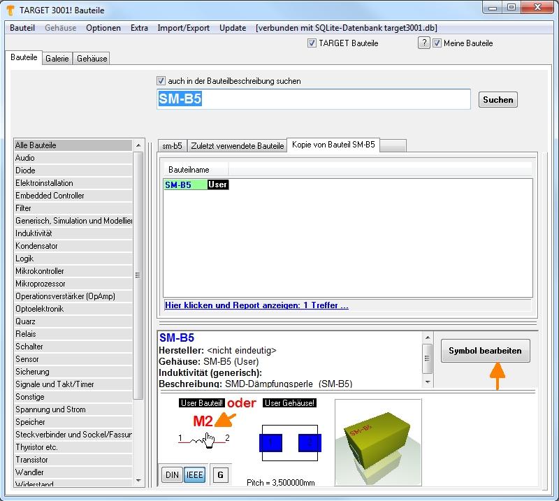 Vorhandenes Schaltplansymbol verändern – TARGET 3001! PCB Design ...