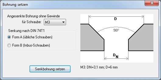 Bohrloch F 252 R Senkkopf Setzen Target 3001 Pcb Design
