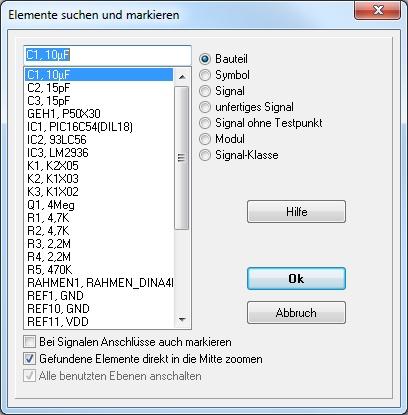 Elemente suchen – TARGET 3001! PCB Design Freeware ist eine Layout ...