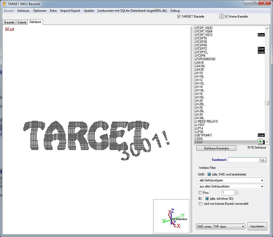 Bild einfügen – TARGET 3001! PCB Design Freeware ist eine Layout CAD ...