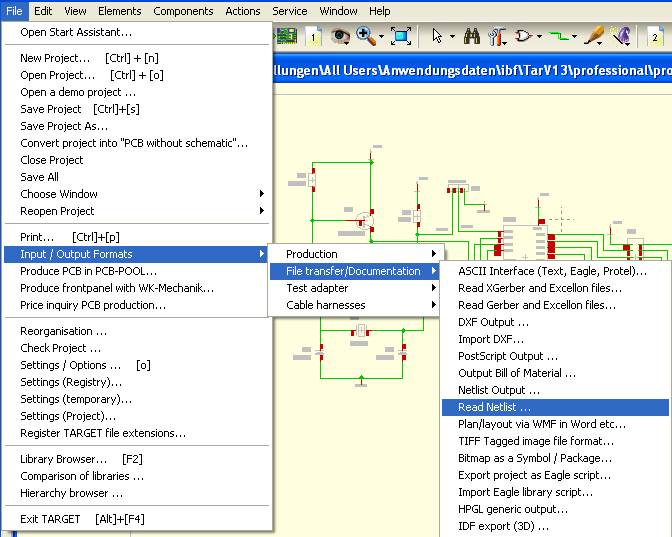 FAQ: Input-/Output drivers, data transfer - TARGET 3001! PCB ... on