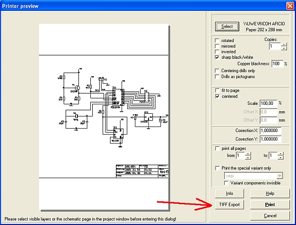 TIFF - TARGET 3001! PCB Design Freeware is a Layout CAD