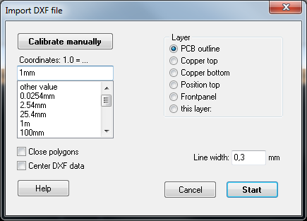 DXF - TARGET 3001! PCB Design Freeware is a Layout CAD Software